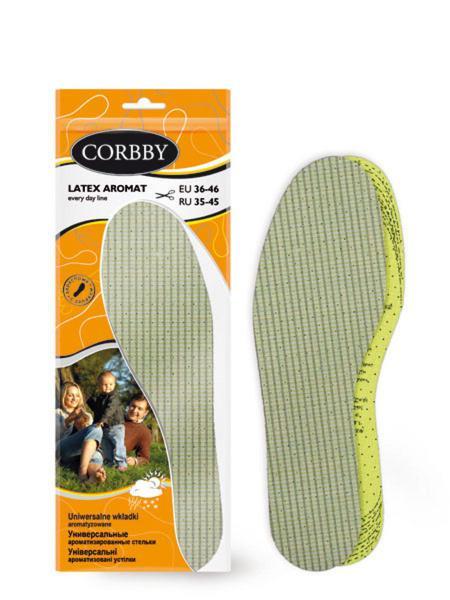 Corbby стельки стельки latex aromat б/р