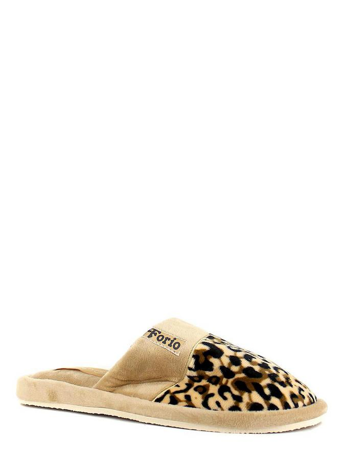 Forio тапочки 135-6586 н бежевый леопар