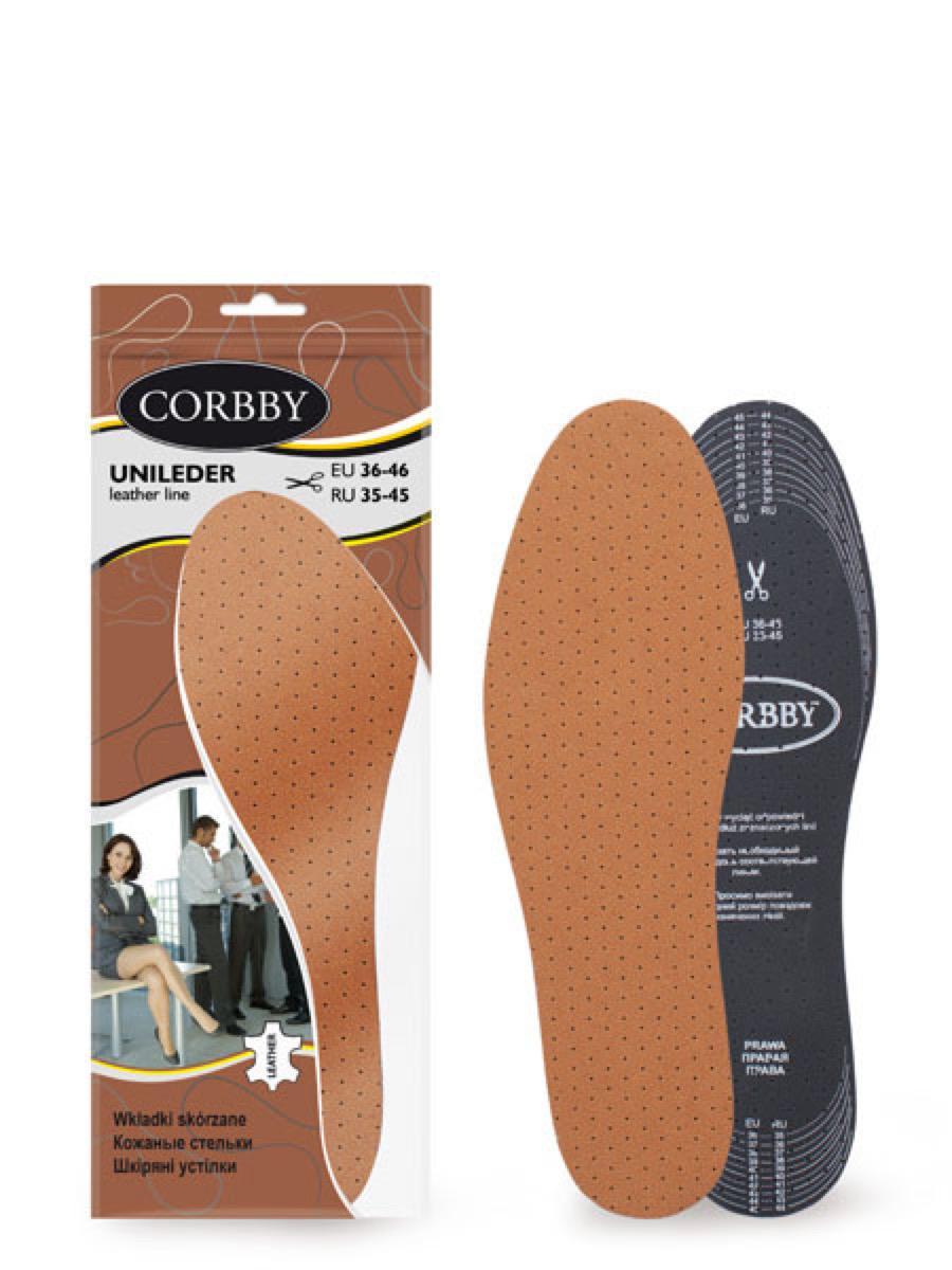 Corbby стельки стельки uni leder б/р (xl)