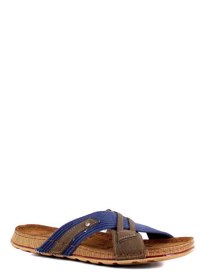 Inblu сабо gg-2u синий-т.коричневый