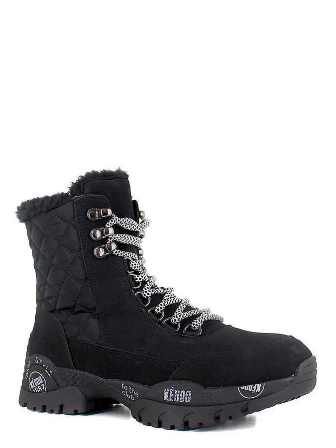 Keddo ботинки высокие 898285/02-01 чёрный
